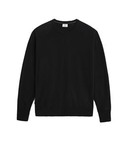 Woolrich - Maglie - maglione girocollo in lana super geelong nero