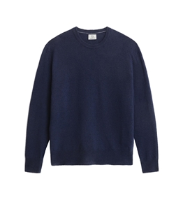 Woolrich - Maglie - maglione girocollo in lana super geelong blu