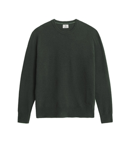 Woolrich - Maglie - maglione girocollo in lana super geelong verde