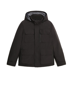 Woolrich - Giubbotti - giacca urban field in gore-tex con cappuccio nascosto nero