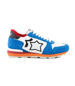 Atlantic Stars - Saldi - sneakers sirius in suede blu/white