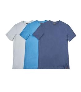Emporio Armani - Saldi - set da 3 t-shirt in jersey di cotone blu