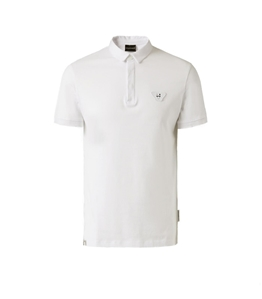 Emporio Armani - Polo - polo in jersey di cotone con patch white