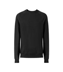 Emporio Armani - Felpe - felpa in cotone stretch con logo black