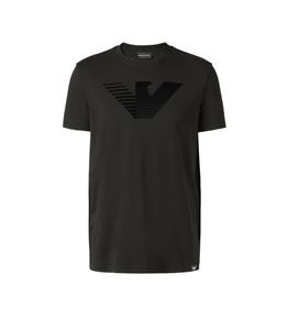 Emporio Armani - T-Shirt - t-shirt con logo 3d black