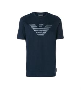Emporio Armani - T-Shirt - t-shirt con logo blu