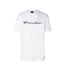 Emporio Armani - T-Shirt - t-shirt in jersey di cotone white