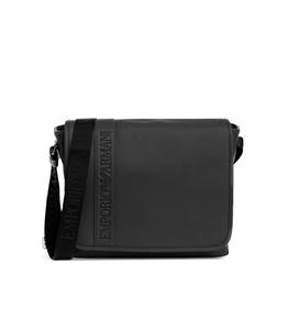 Emporio Armani - Borse - borsa messenger in similpelle logata black