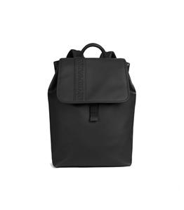 Emporio Armani - Borse - zaino in similpelle con logo pressato black
