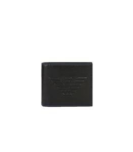 Emporio Armani - Portafogli - portafoglio a libro con maxi logo nero
