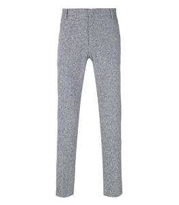Entre Amis - Pantaloni - pantalone t. america corto con micro ricamo blu
