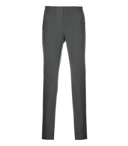 Entre Amis - Pantaloni - pantalone t. america corto in lana grigio medio
