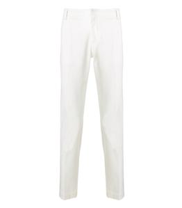 Entre Amis - Pantaloni - pantalone tasca america lungo con logo in tessuto panna