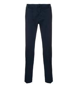 Entre Amis - Pantaloni - pantalone tasca america lungo con logo in tessuto blu
