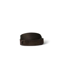 """Orciani - Cinture - cintura nobuckle""""suede"""" in camoscio e tessuto t. moro"""