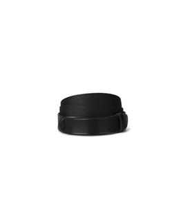 "Orciani - Cinture - cintura nobuckle""dive"" in pelle e tessuto nera"