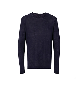 Paolo Pecora - Saldi - t-shirt manica lunga in lino blu cassico