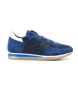 Philippe Model - Scarpe - Sneakers - sneaker in suede tropez perfore' bleu