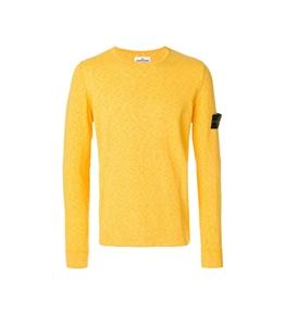 Stone Island - Maglie - maglia girocollo gialla