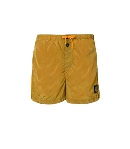 Stone Island - Costumi - short mare nylon metal giallo