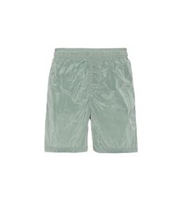 Stone Island - Costumi - short mare nylon metal verde chiaro