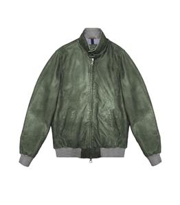 The Jack Leathers - Giubbotti - ru44 leather jacket verde