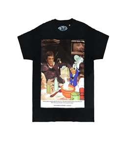 Bastille - T-Shirt - t-shirt con stampa seta scarface nera