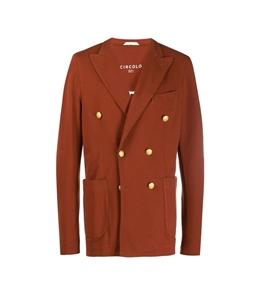 Circolo 1901 - Giacche - giacca doppiopetto piquet rosso siena