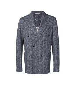 Circolo 1901 - Giacche - giacca doppiopetto piquet drill blu