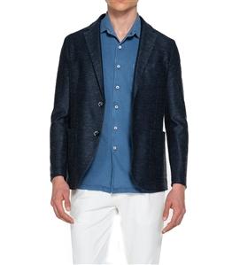 Circolo 1901 - Giacche - giacca 2 bottoni in lino-cotone blu