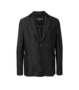 Circolo 1901 - Outlet - giacca 2 bottoni in lino-cotone nero