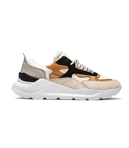 D.A.T.E. - Scarpe - Sneakers - fuga nabuk camel-orange