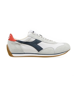 Diadora Heritage - Scarpe - Sneakers - equipe h canvas stone wash bianco/blu profondo