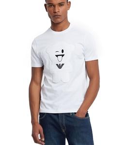 Emporio Armani - T-Shirt - t-shirt manga bear bianca
