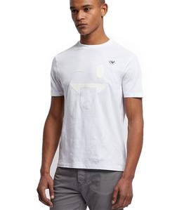 Emporio Armani - T-Shirt - t-shirt in jersey con stampa emoticon e spilla logo bianca