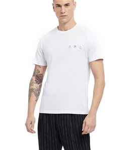 Emporio Armani - T-Shirt - t-shirt in jersey di cotone mercerizzato con spille logate bianca
