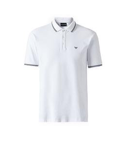 Emporio Armani - Polo - polo in cotone stretch bianca