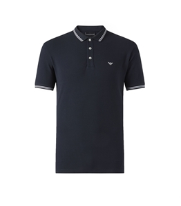 Emporio Armani - Polo - polo in cotone stretch blu