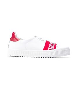 GCDS - Saldi - logo sneakers white/red