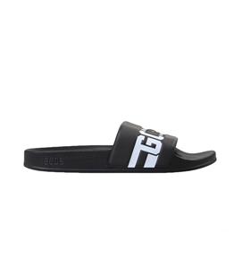 GCDS - Ciabatte - sandali in gomma black/white