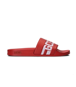 GCDS - Ciabatte - sandali in gomma red/white