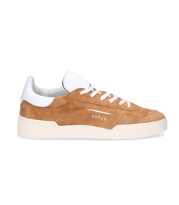 Ghoud Venice - Outlet - sneaker in suede cognac/white