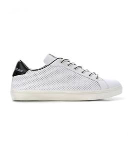 Leather Crown - Scarpe - Sneakers - sneaker mlc06 traforata white/black