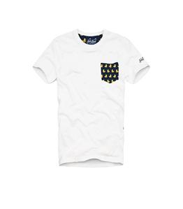 Mc2 Saint Barth - T-Shirt - t-shirt da uomo con taschino stampato