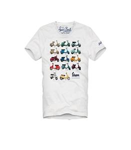 Mc2 Saint Barth - T-Shirt - t-shirt uomo stampa vespa story