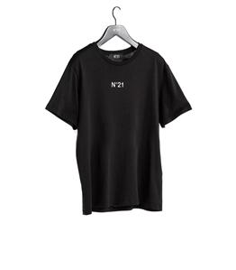 N°21 - T-Shirt - t-shirt girocollo con stampa logo nera