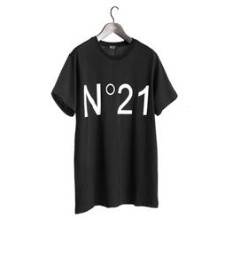 N°21 - T-Shirt - t-shirt con logo stampato nera