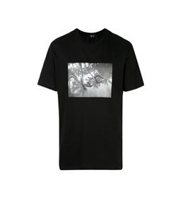 N°21 - T-Shirt - t-shirt con girocollo e stampa fotografica nera