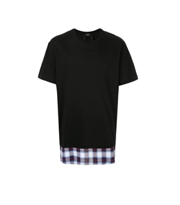 N°21 - T-Shirt - t-shirt a strati nera