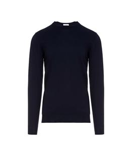 Paolo Pecora - Saldi - pullover girocollo tinta unita blu